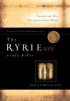 The Ryrie ESV Study Bible Calfskin Leather Black Red Letter